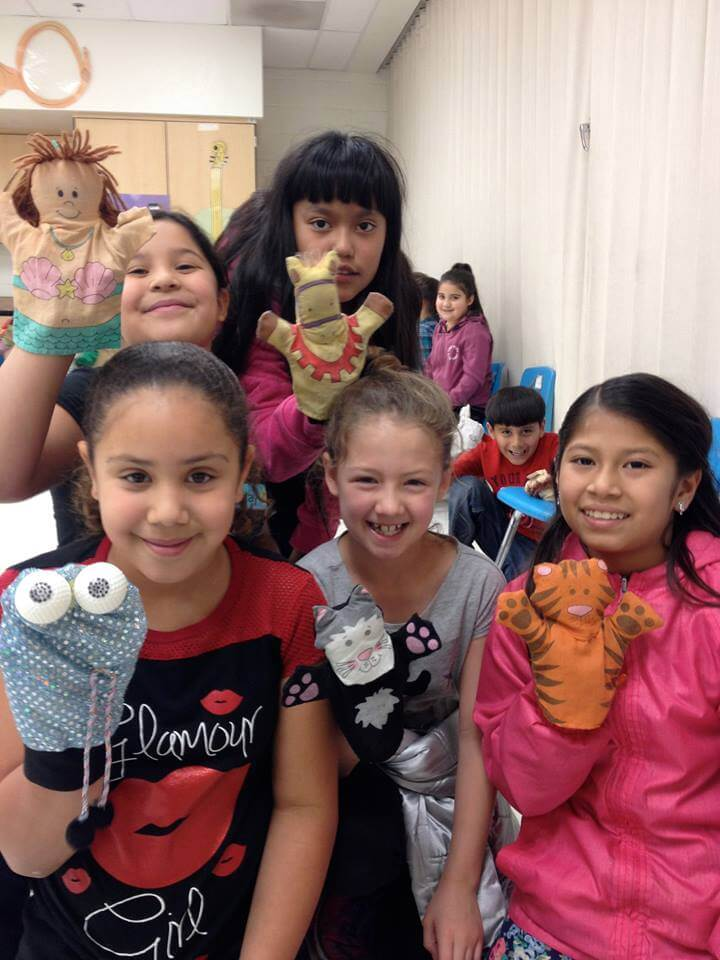 Last spring the outreach group incorporated puppets and story telling at the Charles Bejarano Elementary School. They will be doing this again this year. Courtesy Photo.